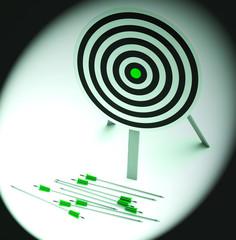 Arrows On Floor Showing Inefficiency