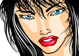 Face of woman in close-up - Comic - 50118342