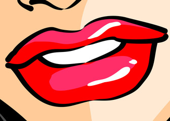 Woman Lips - Comic