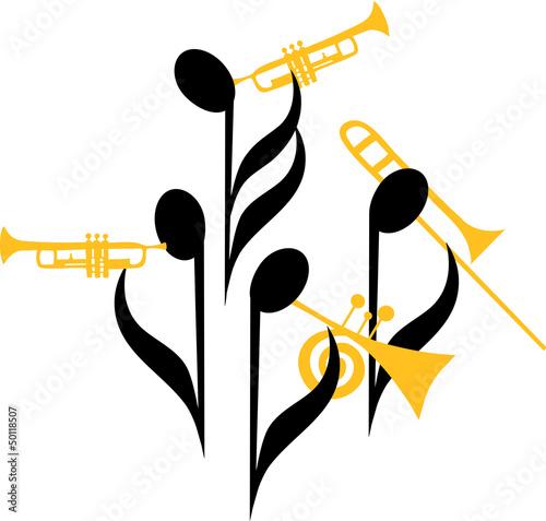 Fototapeta Notes Brass Band