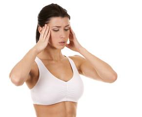 woman's headache
