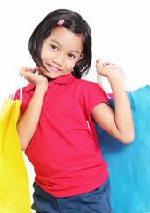 Cute Girl In Shopping