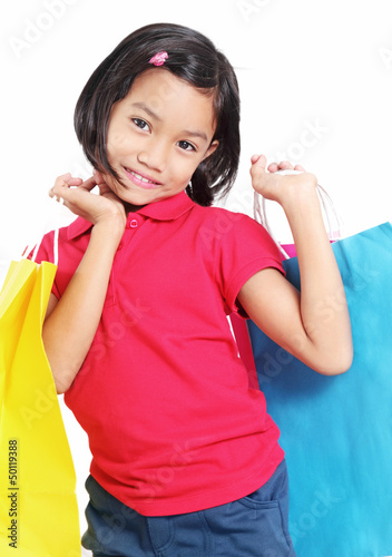 Cute Girl In Shopping
