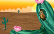 A big cactus plant with a bird