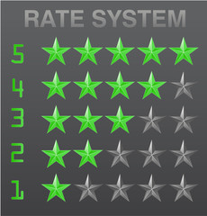 Rating stars set red vector illustration
