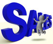 Sales Word Represents Business Selling Or Commerce
