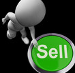 Sell Button Shows Sales Selling And Business