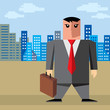 businessman in the city-vector