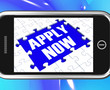 Apply Now On Smartphone Showing Job Applications