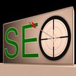 Seo Target Means Search Engine Optimization And Promotion
