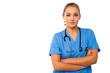Confident female medical practitioner