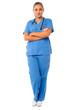Confident female surgeon