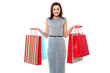 Trendy woman with shopping bags