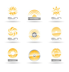 Set of sun icons. Vol 3.