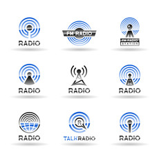 Set of radio station icons. Vol 1.