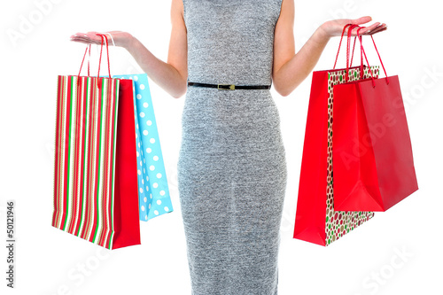 Fashion woman, shopping concept.