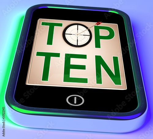 Top Ten On Smartphone Shows Selected Ranking