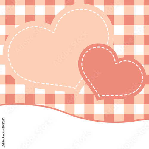 Pink mothers day card with hearts. EPS 8