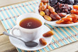 Cup Of Tea And Dried Fruits