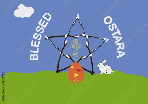 Ostara greeting card