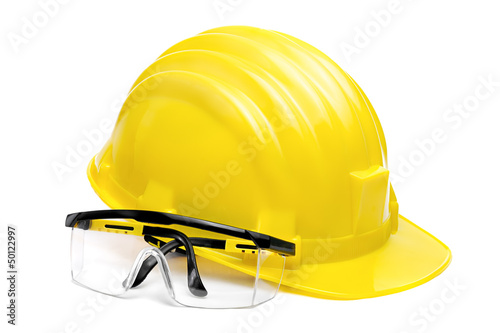 Safety Glasses and Helmet