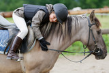 Horse riding - lovely equestrian on a horse - Fine Art prints