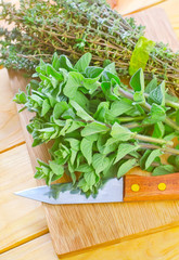 oregano with thyme