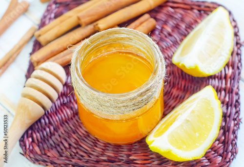honey,cinnamon,and lemon