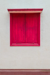 A red window
