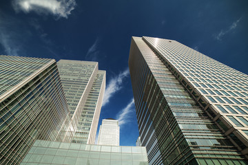 Skyscrapers in Canary Wharf, London Docklands.