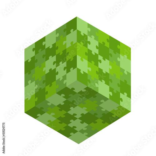 green puzzle square