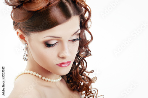 Beautiful Woman Wedding Model