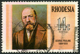 RHODESIA - 1974: shows George Pauling (1854-1919), engineer