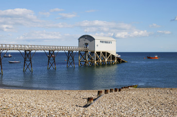 Lifeboat station at Selsey. Sussex. England