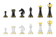 Template of chess pieces.