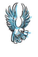 Friedenstaube blau