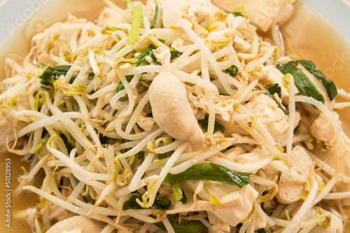 fried bean sprouts mix tofu