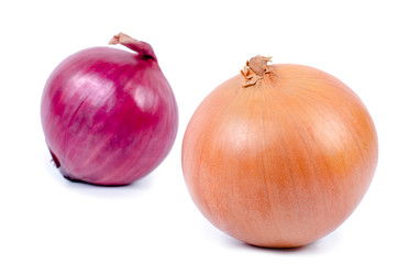 yellow and red onion