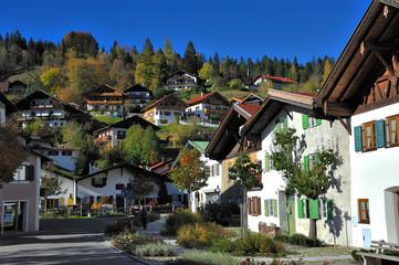 Typische bayrische Häuser Mittenwald
