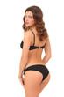 beautiful young woman in a bikini with a beautiful slender ass