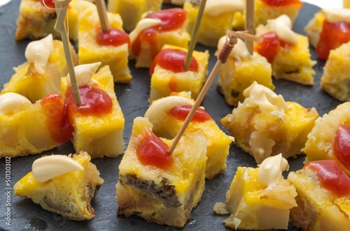 Tapas_Omelette apéritive.