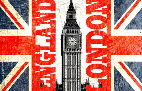 Wall mural drapeau anglais coup avec crit london england - Drapeau rouge avec drapeau anglais ...