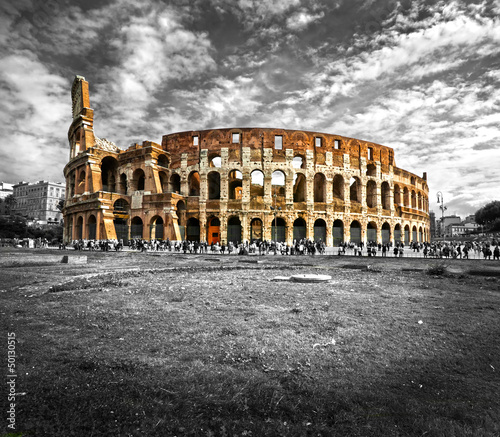 The Majestic Coliseum, Rome, Italy. - 50130515