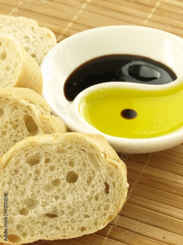 Baguette with oil
