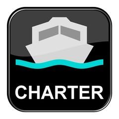 Glossy Button: Schiff Charter