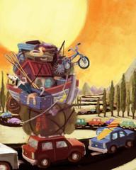 caravana de coches
