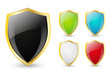 Set of color shield icons
