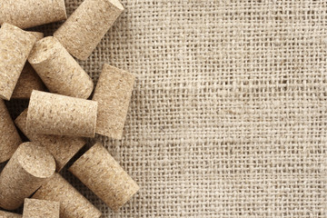 Corks and sisal background
