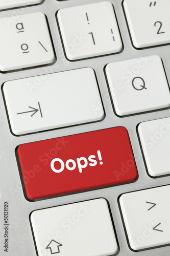Oops! keyboard key