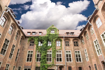 Sights of Poland. Town Hall in Torun - place of birth Copernicus